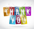 Thank you color tags illustration design over a white background Stock Image