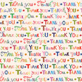 Thank you. Colorful seamless pattern