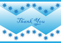 Thank you cute and simple card illustration Royalty Free Stock Photo