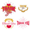 Thank you day emblems set of labels and design elements Royalty Free Stock Photo