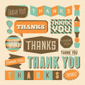 Thank you design elements a set of retro style Stock Images