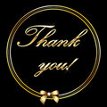 Thank you gold letter card Royalty Free Stock Photo