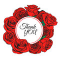Thank you greeting card for Happy Mother`s day. Vector