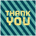 Thank you greeting card vintage design Royalty Free Stock Images