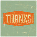 Thank you greeting card vintage design Stock Images