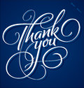 'Thank You' hand lettering (vector) Royalty Free Stock Photos
