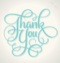 THANK YOU hand lettering (vector) Royalty Free Stock Photo