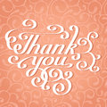 Thank you handwrining lettering card Stock Photo