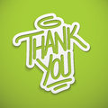 Thank you label lettering postcard banner Royalty Free Stock Photos