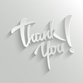Thank you lettering greeting card hand typographical vector background handmade calligraphy easy paste to any background Royalty Free Stock Images