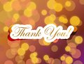 Thank you lettering illustration design on a gold background Royalty Free Stock Photo