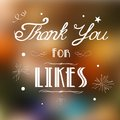 Thank you for likes illustration of background Stock Photos