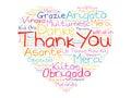 Thank You Love Heart Word Cloud