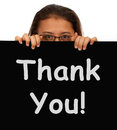 Thank You Message To Show Gratitude Royalty Free Stock Photo