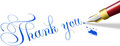 Thank you note fountain pen write Stock Photos