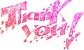 Thank you pink sketchy doodles doodle with hearts Royalty Free Stock Photography