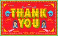 Thank you poster illustration of india truck paint style Stock Image