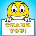 Thank You Sign Means Gratefulness 3d Illustration Royalty Free Stock Photo