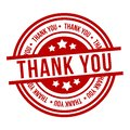 Thank You Stamp. Red Badge