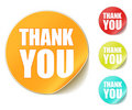 Thank you sticker Royalty Free Stock Photo