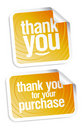 Thank you stickers Royalty Free Stock Image