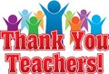 Thank You Teachers Colorful Graphic