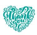 Thank You Text Heart Handwritt...