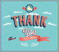 Thank you typographic design vector illustration Royalty Free Stock Photos