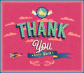 Thank you typographic design vector illustration Royalty Free Stock Photography