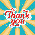 Thank you vector illustration in old style Stock Photography