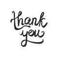 Thank you vector text isolated on white background