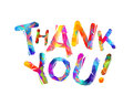 Thank you. Vector triangular letters Royalty Free Stock Photo