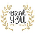 Thank you very much. Hand lettering inscription Royalty Free Stock Photo