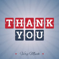 Thank You Very Much Illustration Royalty Free Stock Photo