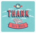 Thank you very much vintage emblem. Royalty Free Stock Photo