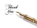 Thank You. vintage ink pen Royalty Free Stock Photo