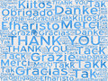 Thank You words in different languages as background