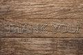 Thank You Written On Wooden Ba...