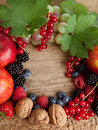Thankgiving board with lots of fruits Stock Image