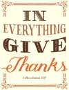 Thanks in everything give card Royalty Free Stock Photography