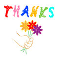 Thanks Flowers Shows Blooming You And Florist Royalty Free Stock Photo
