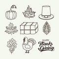 Thanks given icon set design