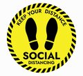 Thanks For Practicing Social Distancing Floor sticker Sign
