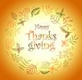 Thanksgiving σχέ ιο στεφανιών φθινοπώρου defoliation πτώση φύ  ων Στοκ Φωτογραφία