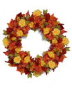 Thanksgiving Autumn Flowers wreath Royalty Free Stock Photography