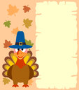 Thanksgiving background with turkey vector Stock Photos