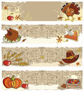 Thanksgiving banners Royalty Free Stock Photo