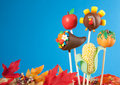 Thanksgiving cake pops Stock Photos