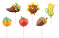 Thanksgiving cake pops isolated on white background Stock Image