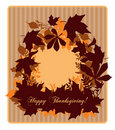 Thanksgiving card Stock Image